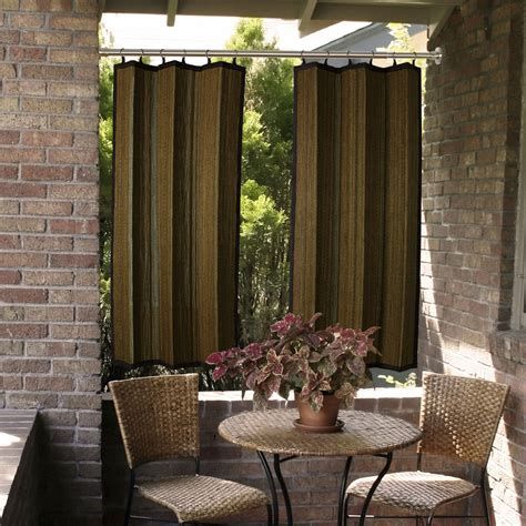 outdoor drapery tan and espresso bamboo outdoor curtain 40 x 84 versailles