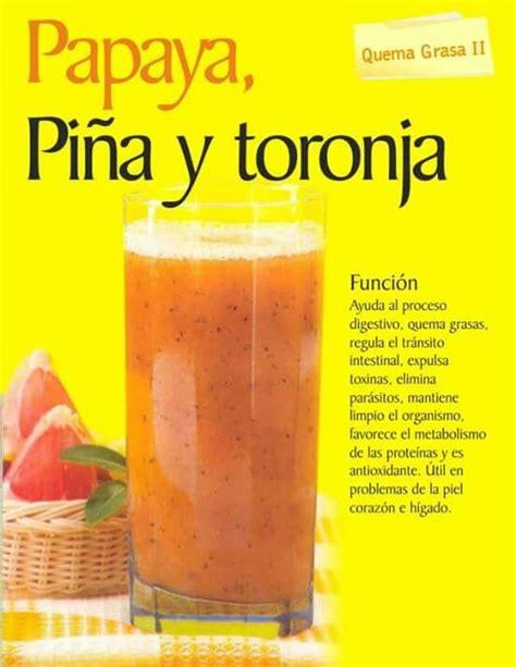Papaya Detox Drink by Papaya Pi 241 A Y Toronja Quema Grasa Jugos Naturales