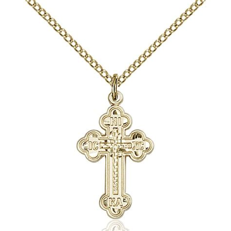 14kt gold filled russian cross pendant the catholic company