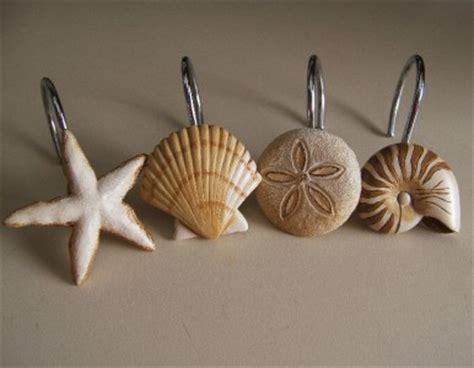 seashell shower curtain hooks seashell starfish sand dollar nautical shower curtain