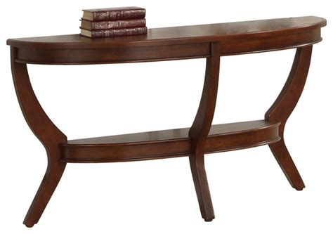 Half Moon Sofa Table by Homelegance Avalon Half Moon Sofa Table In Cherry