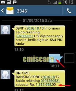 format cek saldo via sms banking bni begini cara menggunakan sms banking bni di android