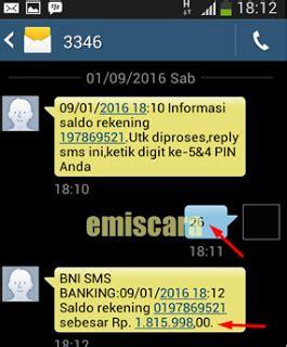 bca sms banking contoh format transfer sms banking bni ke bca begini cara