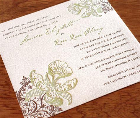 wedding invitations jackson ms floral wedding invitation gallery orchid