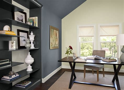Office Interior Paint Color Ideas Interior Paint Ideas And Inspiration Blue Accent Walls Blue Accents And Normandy