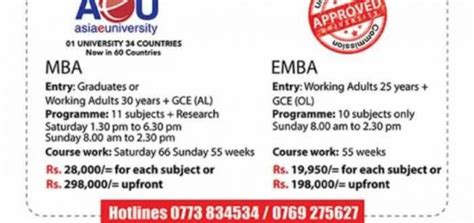 Asia Mba College by Mba Programs Education Synergyy