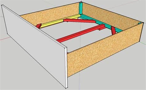 schublade bauen ehebett aus ikea arbeitsplatten selbst gebaut