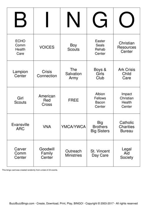 United Gift Card - united way bingo cards to download print and customize
