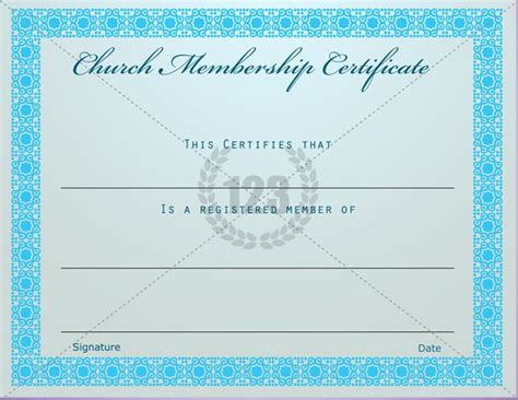 membership templates free prestigious church membership certificate template free