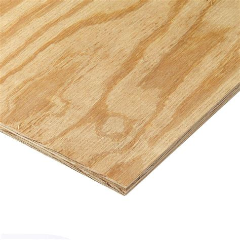 home depot claymark pine 15 32 in x 4 ft x 8 ft southern pine plywood 231355 the home depot