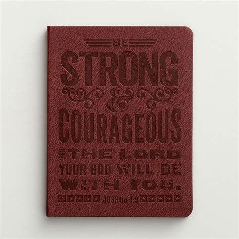 Christian Cards And Gifts - be strong courageous christian journal christian cards inspirational