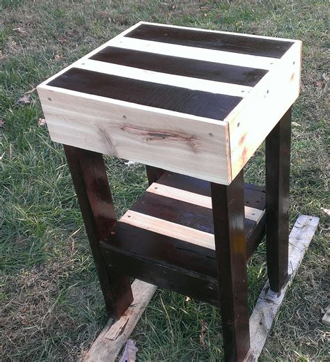 end tables made from pallets pallet furniture how to a pallet end table