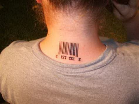 tattoo barcode neck barcode tattoo which getting famous nice ideas for 5372095
