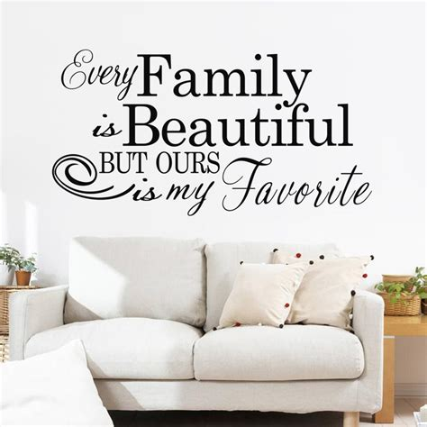 familie engels tekst patroon trouwzaal muurstickers slaapkamer woonkamer sofa tv achtergrond