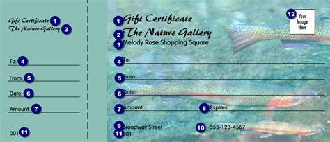 fishing gift certificate template nature series trout gift certificate ticketprinting