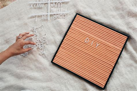 diy letter board diy letter board how to make your own letter board in 4 easy steps treasures travels
