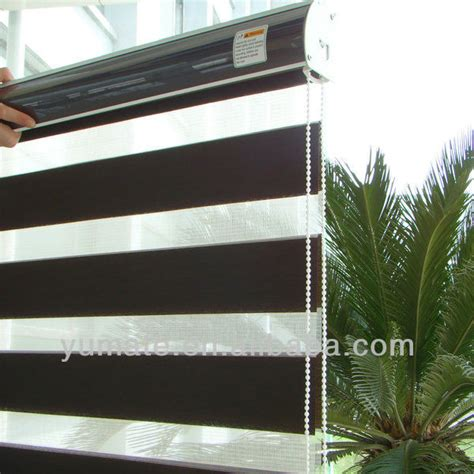 Curtain Fabric Roll Combi Double Roller Shade Zebra Shade Buy Wooden Color
