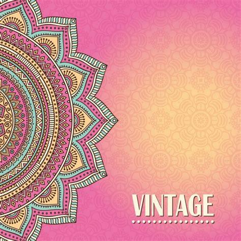 imagenes vectores gratis vintage fondo mandala vintage de color rosa descargar vectores