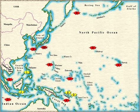 pacific war map world war 2 map pacific www pixshark images