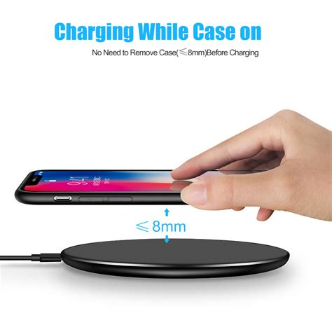 iphone qi charging smorss qi wireless fast charger 5v ultra light wireless charging pad for iphone x 8 8 plus for