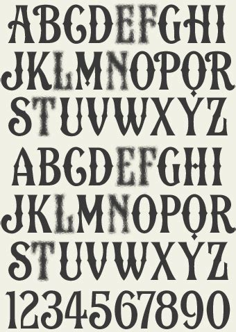 tattoo fonts western a rustic and easy to read vintage western style created by