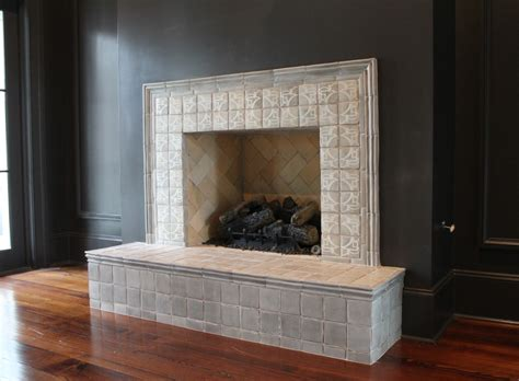 tiling around a fireplace tile fireplace mantels tabarka studio