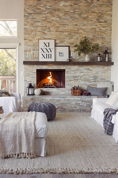 6 bedrooms with fireplaces we would love to wake up to cosy living room with fireplace stone wall house