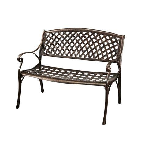cast aluminum bench abbyson living violet cast aluminum bench in copper dl hs80b