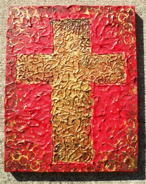 textured acrylic painting on canvas original abstract textured cross acrylic painting on 11x14