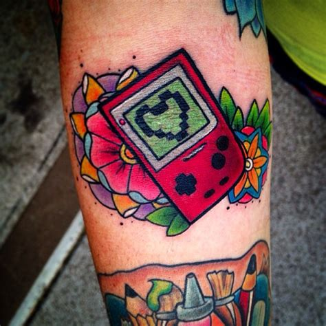 gameboy pocket tattooed by kyle harvey at lifetime tattoo