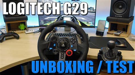 volanti logitech logitech g29 un volant pour ps4 unboxing test fr