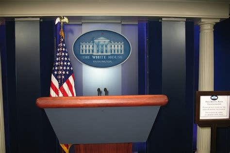 White House Press Briefing Room by Boston Globe Review
