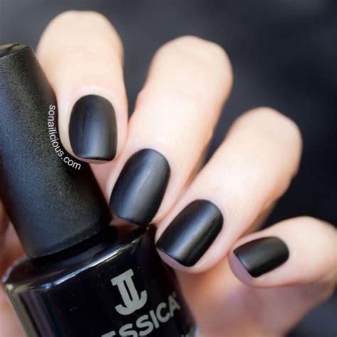 Black Nail by Black Matte Nails Sonailicious