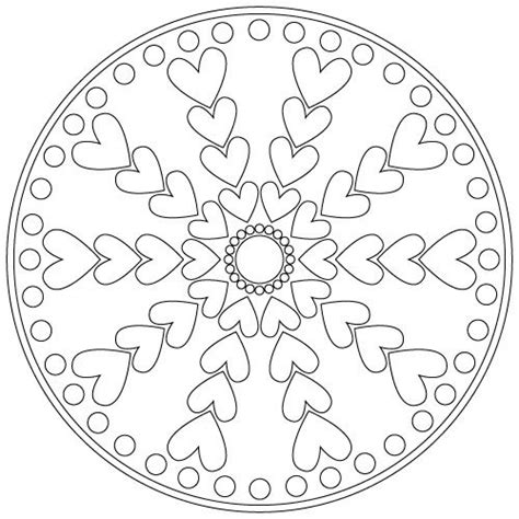 mandala coloring pages valentines mandala non commercial use only mandalas