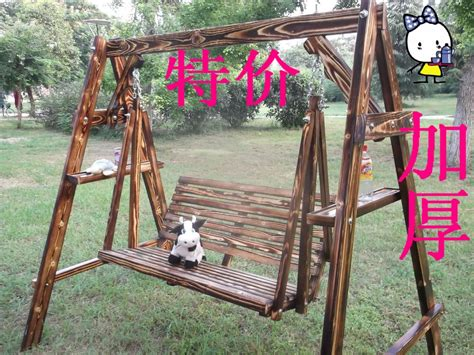 wooden swing adult thickening adult indoor and outdoor wooden swing wood