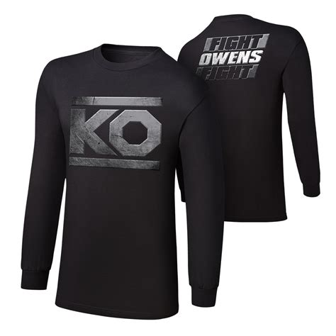 Ko T Shirt kevin owens quot ko fight quot sleeve t shirt us