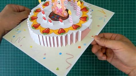 birthday cake popup card template birthday cake pop up card tutorial