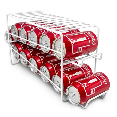 soda racks for cans can organizer rack pantry or cabinet shelf