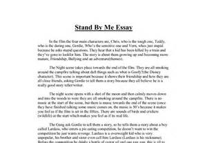 What America Means To Me Essay by Stand By Me Essay A Level Media Studies Marked By Teachers