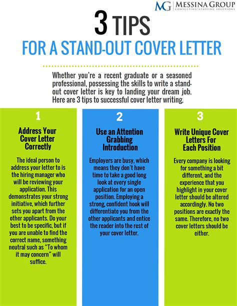 tips stand cover letter writing