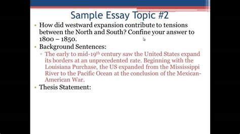 Intro And Thesis by Apush Review The Introductory Paragraph And Thesis