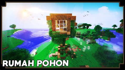 Membuat Rumah Pohon Minecraft   cara membuat rumah pohon minecraft tutorial youtube
