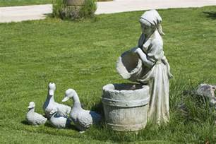 Concrete Garden Accents How To Stain Concrete Statues Ebay