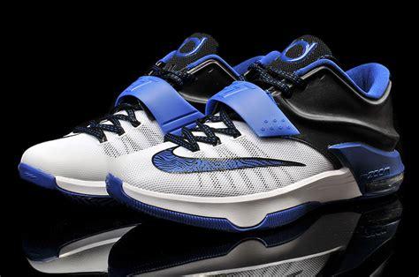 blue kd basketball shoes nike kd 7 blue black white basketball shoes sale