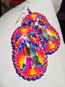 native american beaded earrings long set