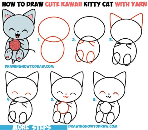 cat step step draw a cat step by cats