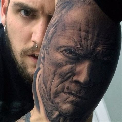tattoo portraits awesome realistic portrait on arm best