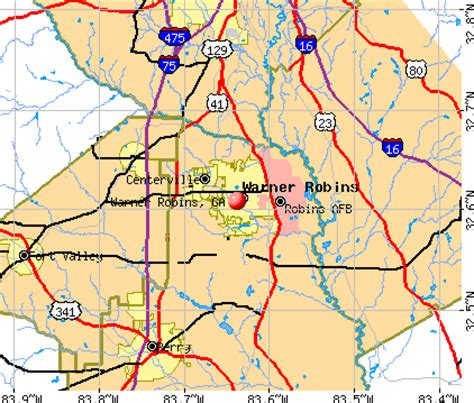 warner robins ga map my