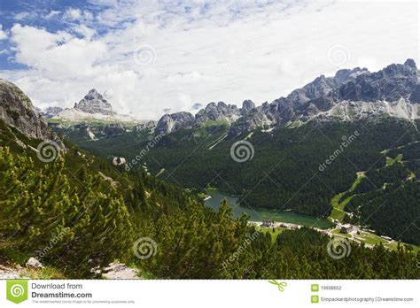 small mountain town of italy stock photography image