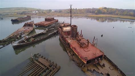boat salvage yard columbus ohio this eerie footage of a boat graveyard along new jersey s